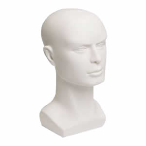 Zubehor Buste Herren weiB 36cm (Busto Homem)